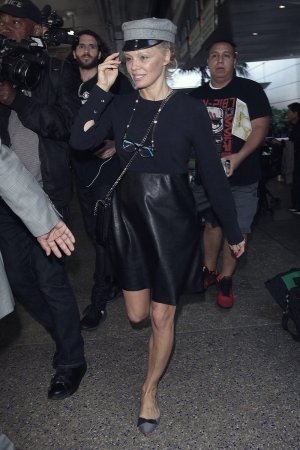 Pamela Anderson arrives at LAX
