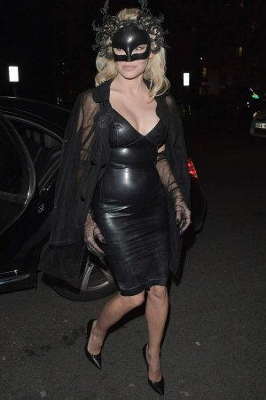 Pamela Anderson seen arrives at Mortons Private Members Club