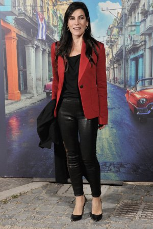 Paola Turci walks the red carpet for 'Non e' Un Paese Per Giovani'