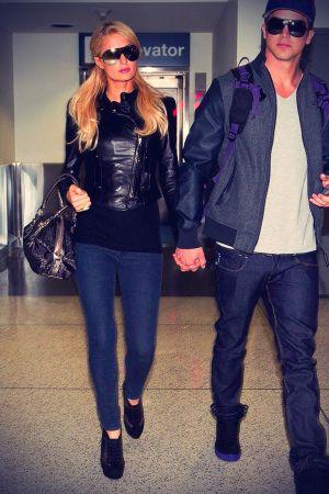 Paris Hilton arrive at LAX