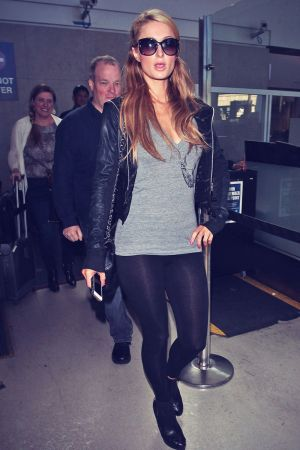 Paris Hilton arriving at LAX airport
