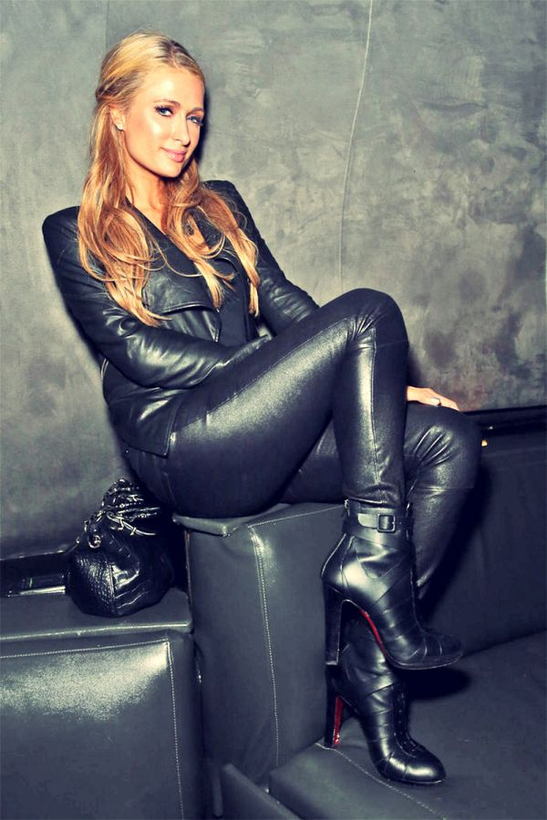 Paris Hilton Attends Jay Z Concert Amp After Party Leather