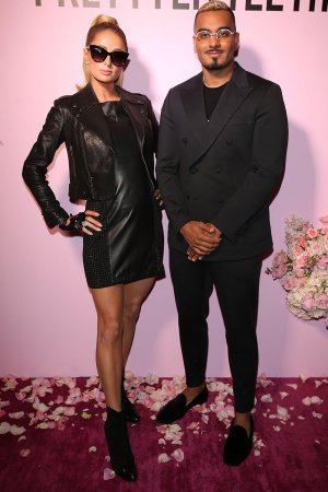 Paris Hilton attends PrettyLittleThing X Kelly Gale