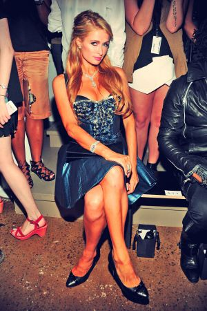 Paris Hilton attends The Blonds fashion show