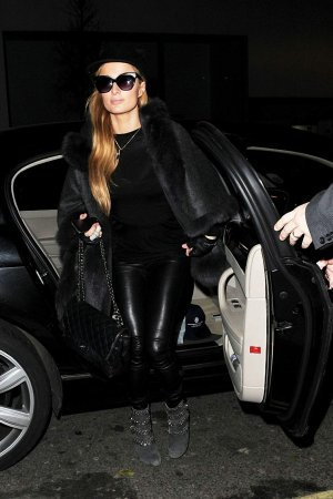 Paris Hilton is spotted at the Chiltern Firehouse