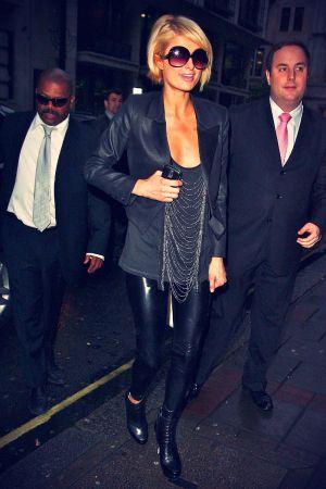 Paris Hilton leaving TV studio