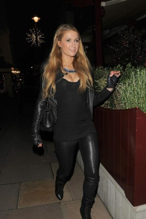 Paris Hilton out in London