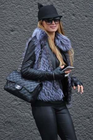 Paris Hilton seen in Milan