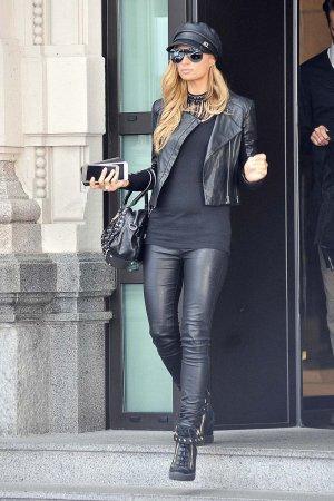 Paris Hilton seen in Milan for Fashion Week