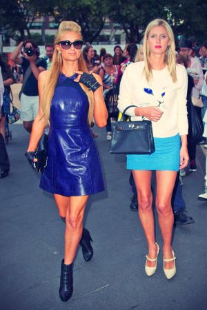 Paris & Nicky Hilton attend Charlotte Ronson Presentation