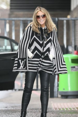 Patsy Kensit is pictured leaving the ITV studios