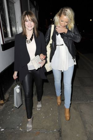Paula Lane with Sacha Parkinson At Holly Quin-Ankrah's leaving do at the OX Pub in Manchester