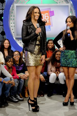Paula Patton at BET 106&Park in NYC