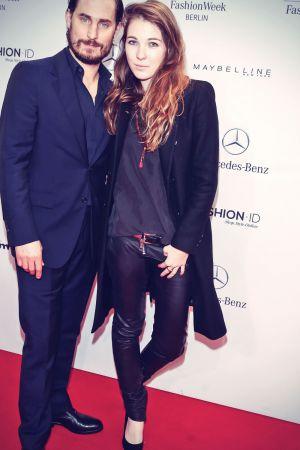 Paulina Huebner attends Mercedes-Benz Fashion Week