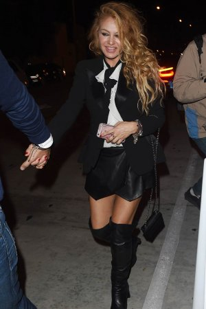 Paulina Rubio leaves Catch restaurant