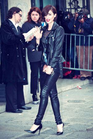 Paz Vega attends Jean-Paul Gaultier show