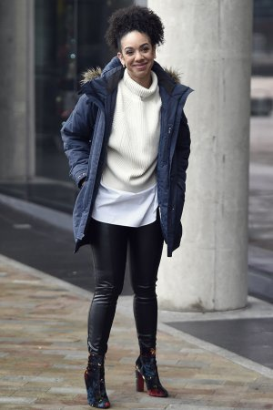 Pearl Mackie spotted leaving the BBC Breakfast Studio