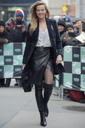 Petra Nemcova arrives at AOL build Show