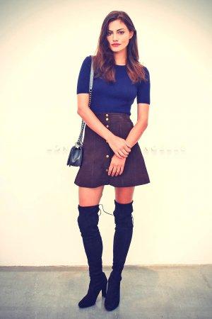 Phoebe Tonkin attends FRAME DENIM SS16 NYFW