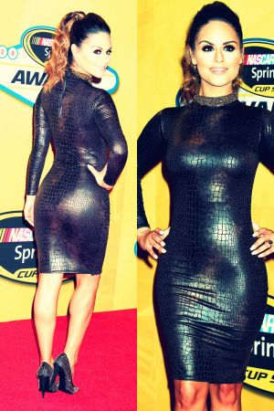 Pia Toscano attends the 2013 NASCAR Sprint Cup Series Awards