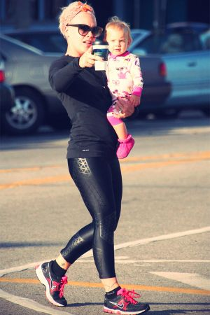 Pink with daughter Willow in LA
