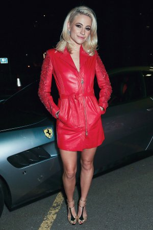 Pixie Lott attending the UK launch for the new Ferrari Portofino