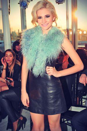 Pixie Lott attends Mark Fast salon show