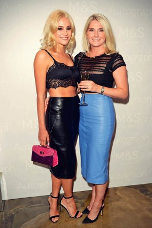 Pixie Lott, her sister & Zoe Hardman attend Autograph Menswear Marks & Spencer Party