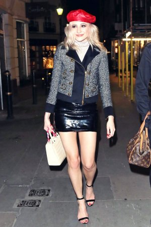 Pixie Lott leaving Mews of Mayfair For Night Out