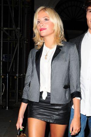 Pixie Lott leaving the Mayfair Nightclub