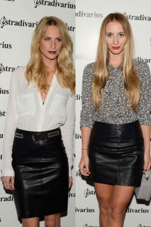 Poppy Delevigne & Harley Viera-Newton pose during a photocall for The Event Paper party