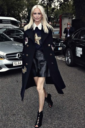 Poppy Delevingne attends London Fashion Week