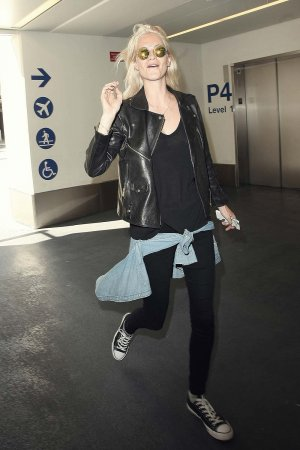 Poppy Delevingne is seen at LAX