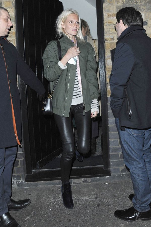 Poppy Delevingne night out at the Chiltern Firehouse