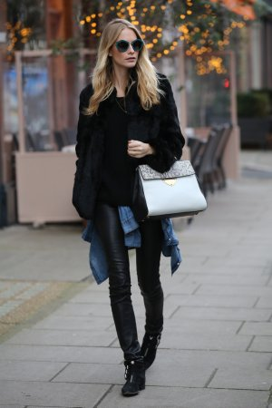 Poppy Delevingne wears the new Coccinelle B14 Bag