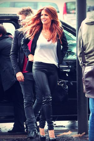Poppy Montgomery at a photoshoot in Paris