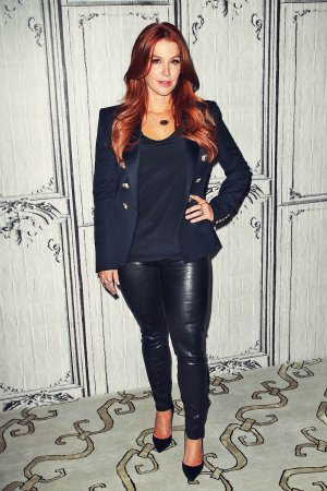 Poppy Montgomery promotes Unforgettable at a Taping of AOL Build