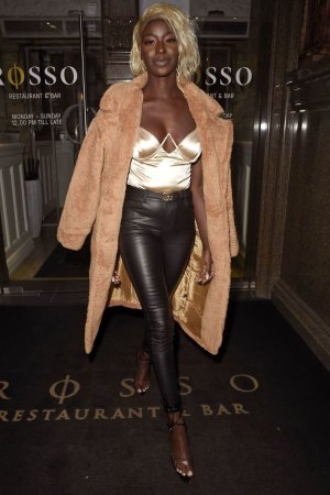 Priscilla Anyabu was seen heading to Rosso Restaurant