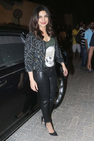 Priyanka Chopra during a party hosted by filmmaker Shrishti Arya