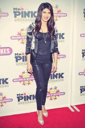 Priyanka Chopra hits the red carpet to launch her celebrity milkshake