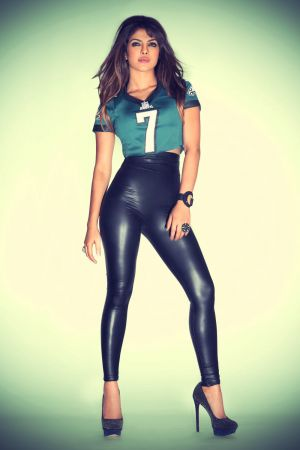 Priyanka Chopra in NFL Jersey Promo Shoot