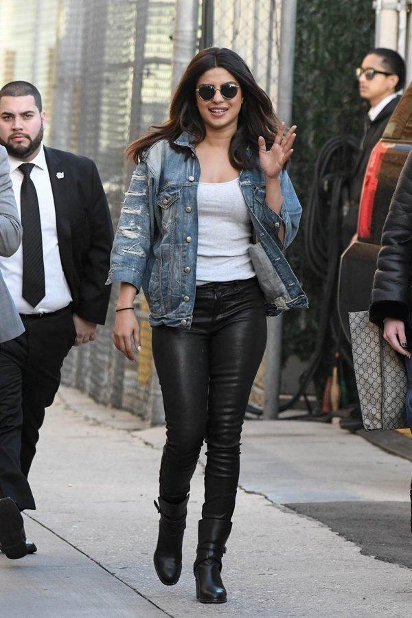 Priyanka Chopra seen at Jimmy Kimmel Live