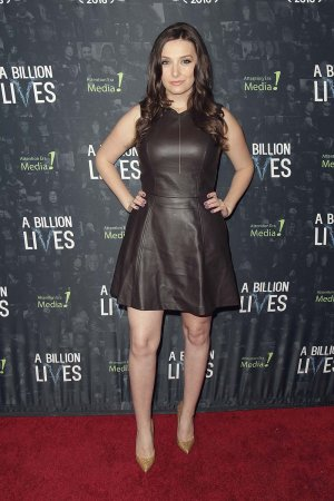 Rachel Ann Mullins arrives at the premiere of A Billion Lives