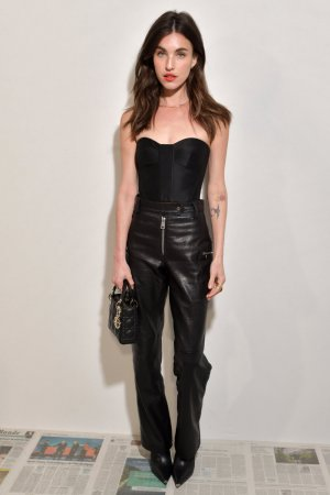 Rainey Qualley attends Dior show