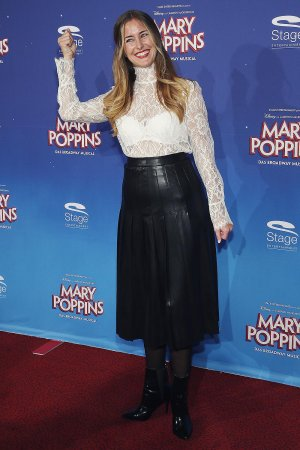 Ramona Stoeckli attends the red carpet at the premiere of the Mary Poppins musical