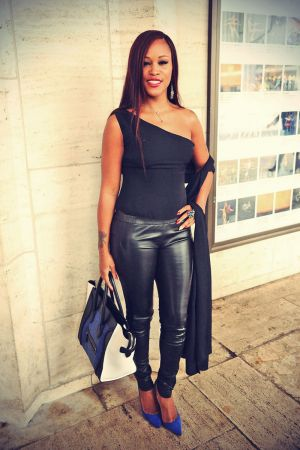 Rapper Eve attends New York Fashion Week event