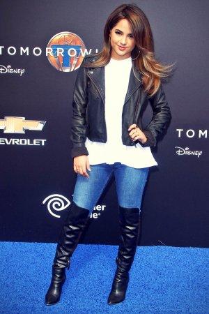 Rebbeca Marie Gomez attends Tomorrowland premiere