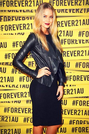 Renae Ayris arrives at the opening of the FOREVER 21 flagship store