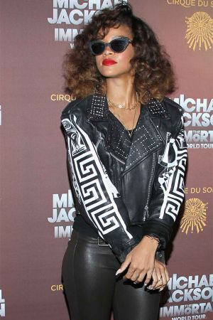 Rihanna at Cirque Du Soleil Michael Jackson's THE IMMORTAL World Tour Premiere in LA