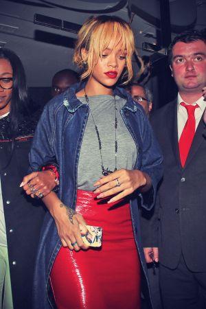Rihanna at San Carlos Restaurant in Manchester